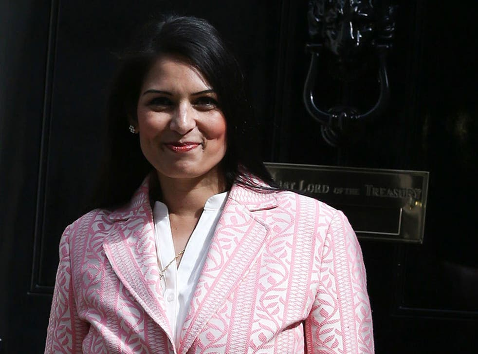 """Priti Patel reportedly called a campaign group """"thugs"""""""