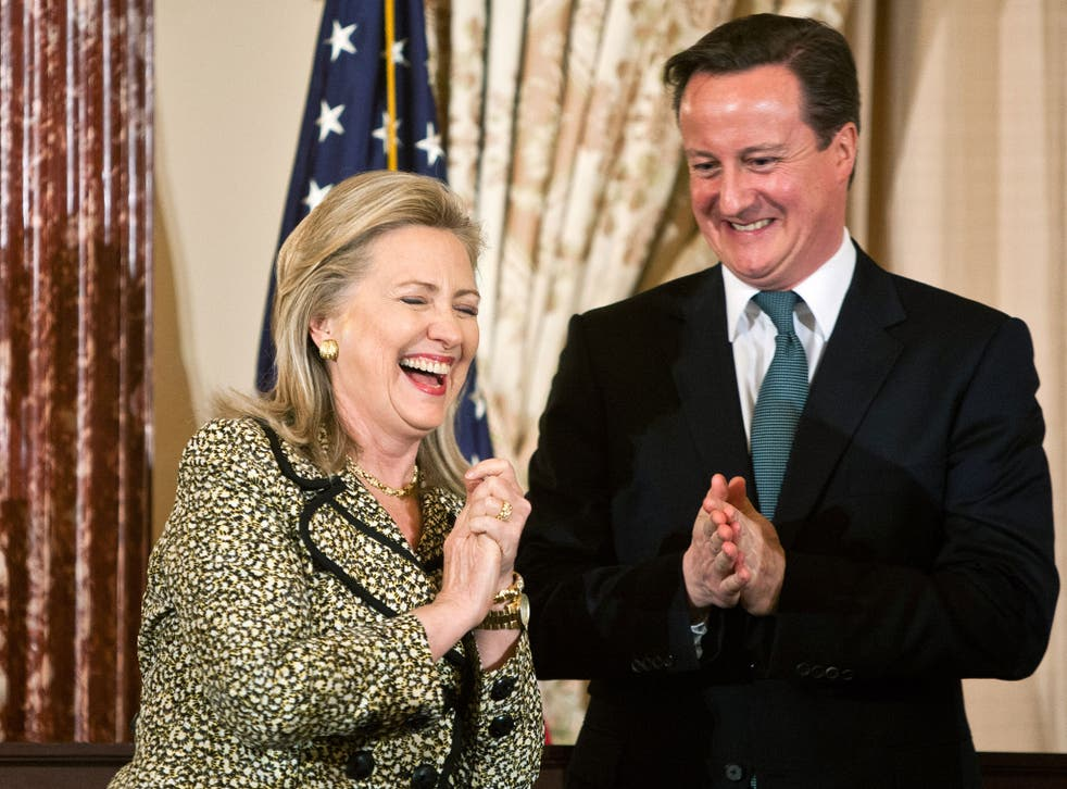 The emails released from Clinton's email system include damning criticism of David Cameron