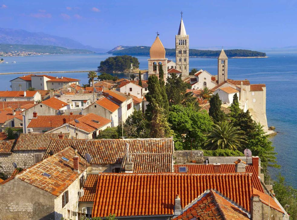 Island in the sun: The medieval rooftops and spires of Rab town