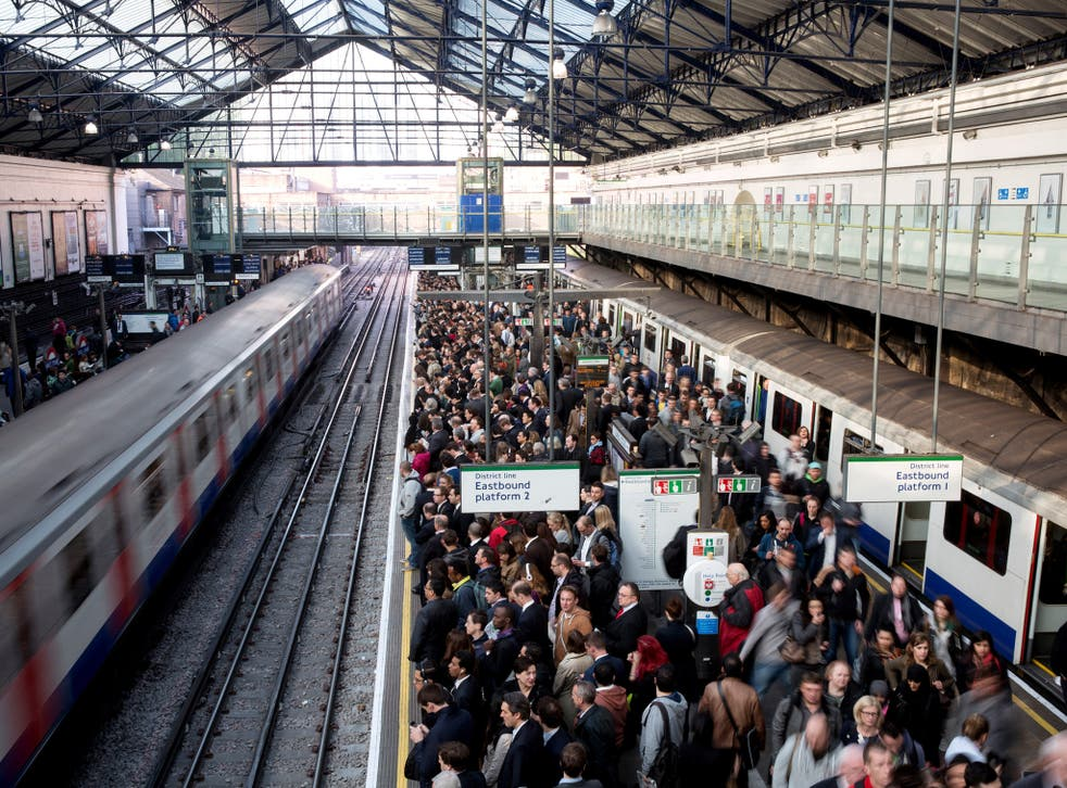 The Tube strike forced people to find alternative routes to work.