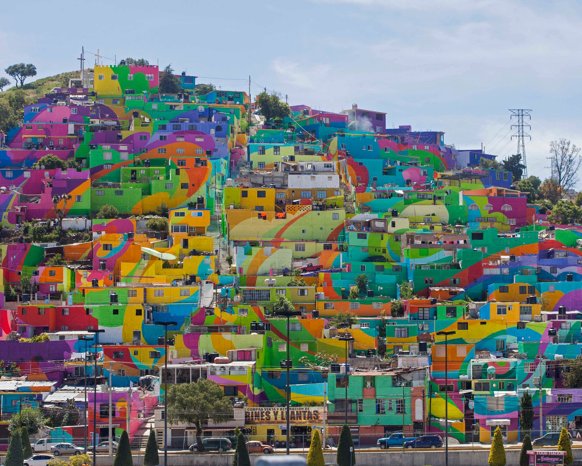 Art Project Turns Mexican Barrio Into A Giant Mural