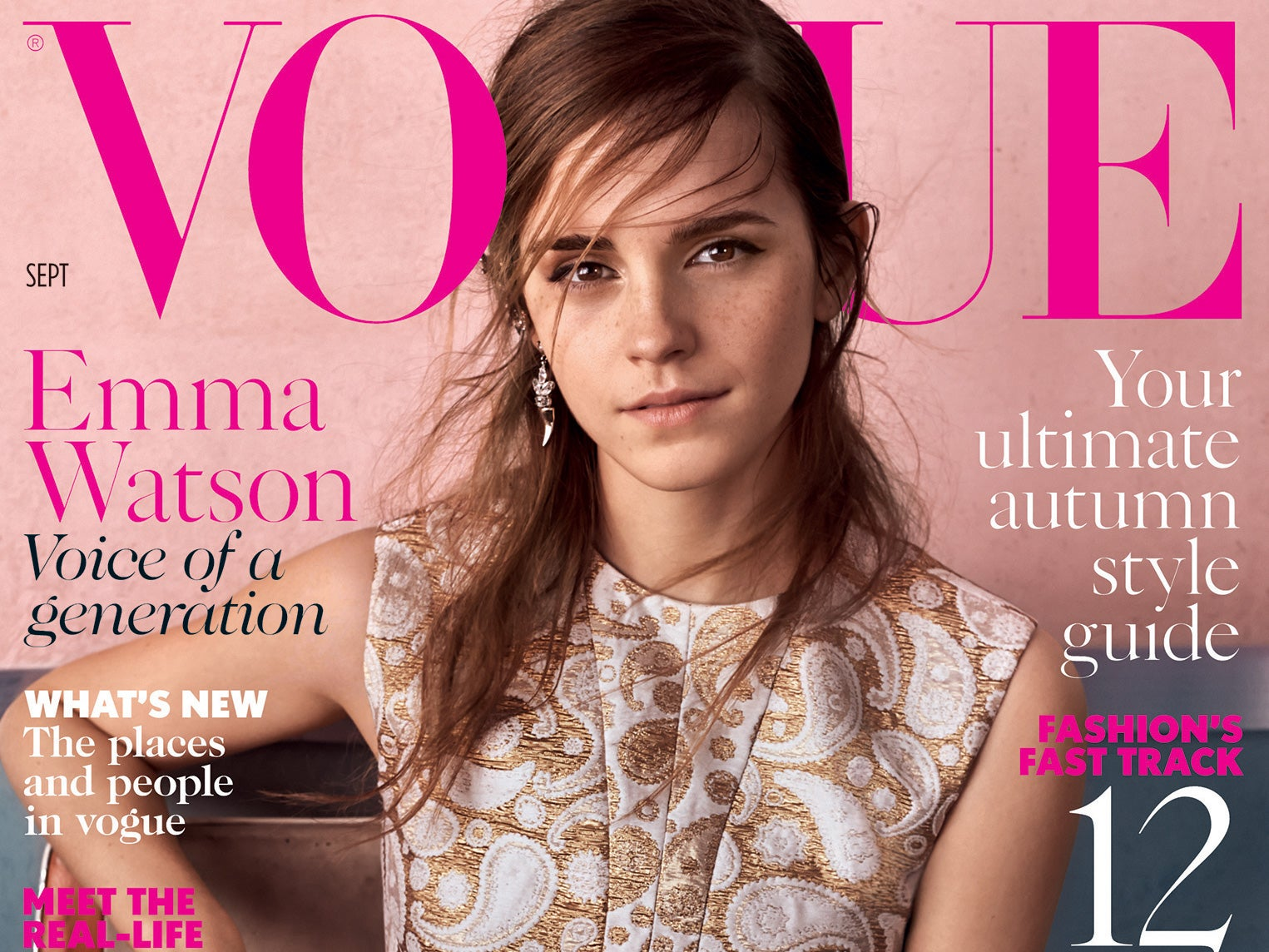 emma watson says she feels like an imposter as vogue names her 39 the