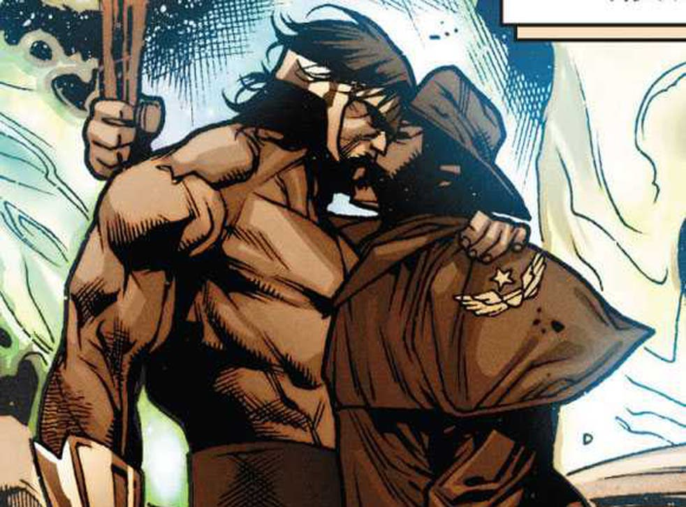 Hercules and Wolverine share a kiss