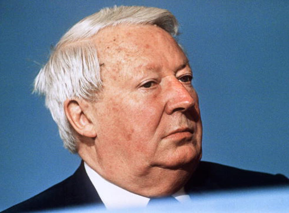 Edward Heath, pictured in 1989 at the Tory party conference