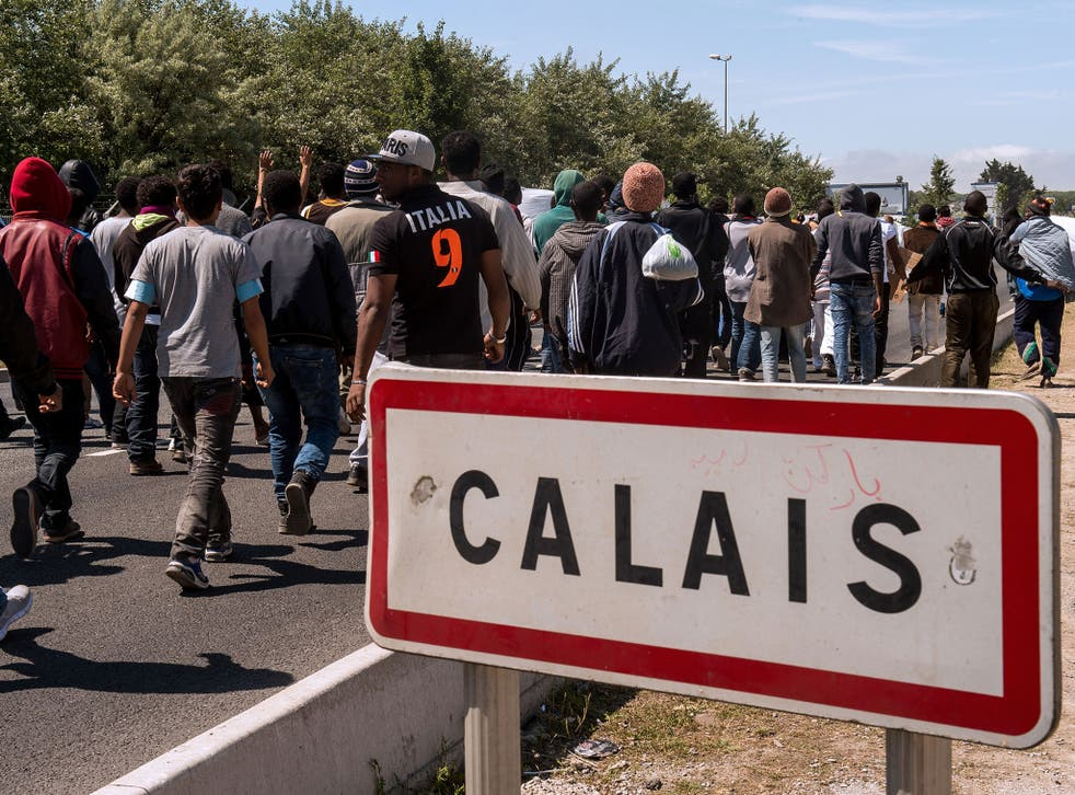 Migrants trying to cross into Britain from Calais led the Prime Minister to claim 'swarms' were heading for the UK