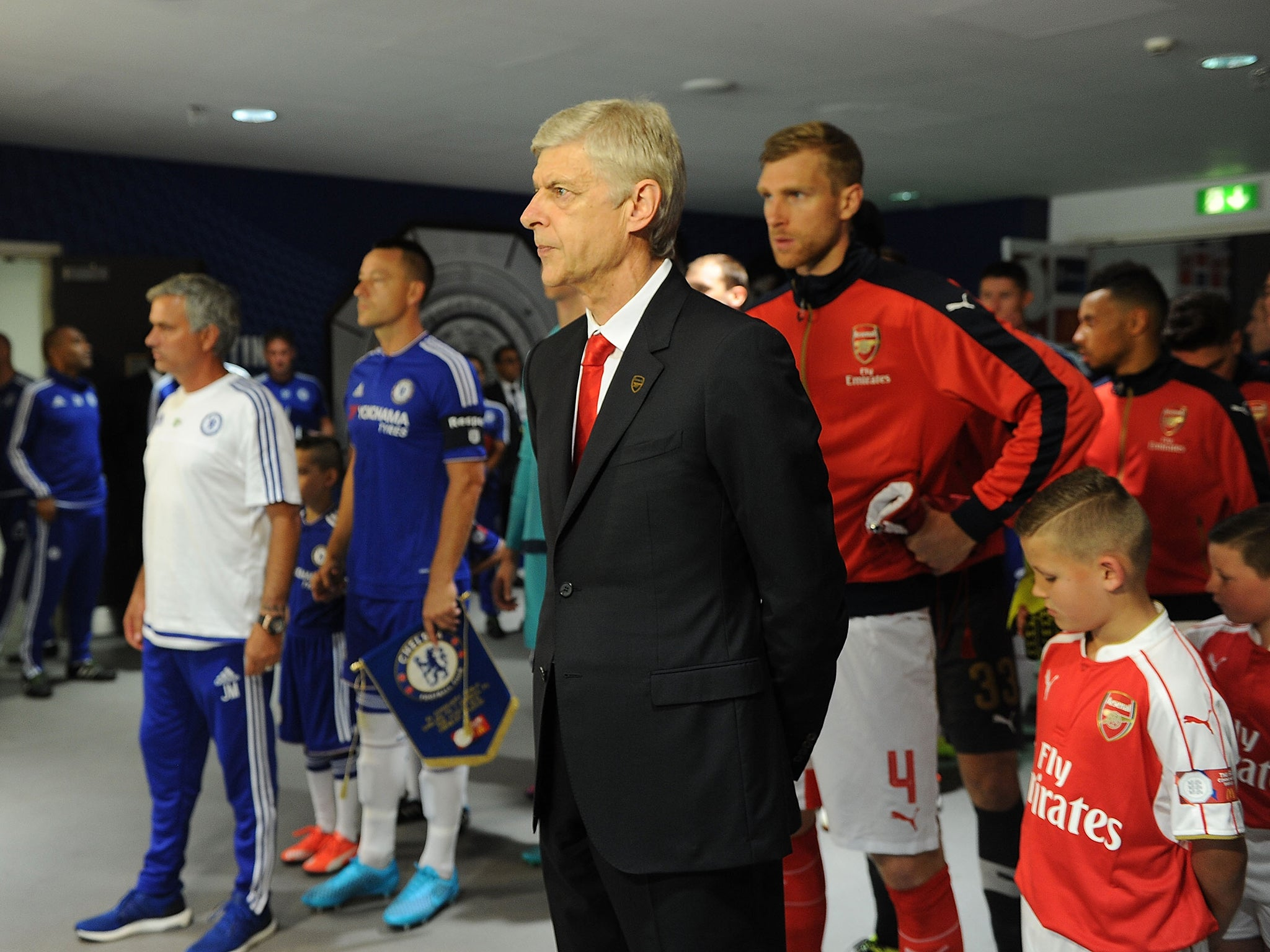 Image result for Jose Mourinho and Arsene Wenger Petr Cech