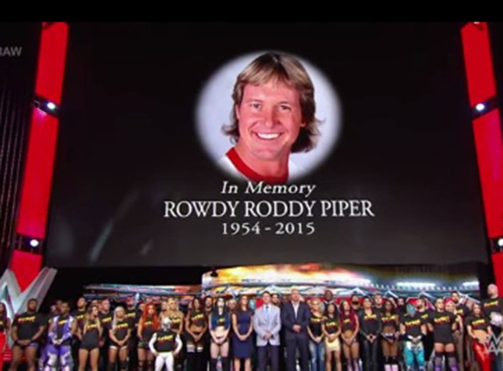The WWE roster honours Rowdy Roddy Piper
