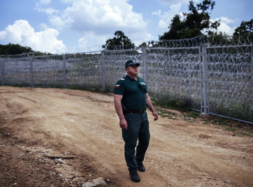 The border fence between Bulgaria and Turkey