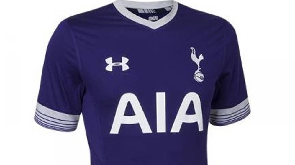 cad20f2407a39 Tottenham third shirt 2015/16: Spurs unveil purple kit in Audi Cup ...