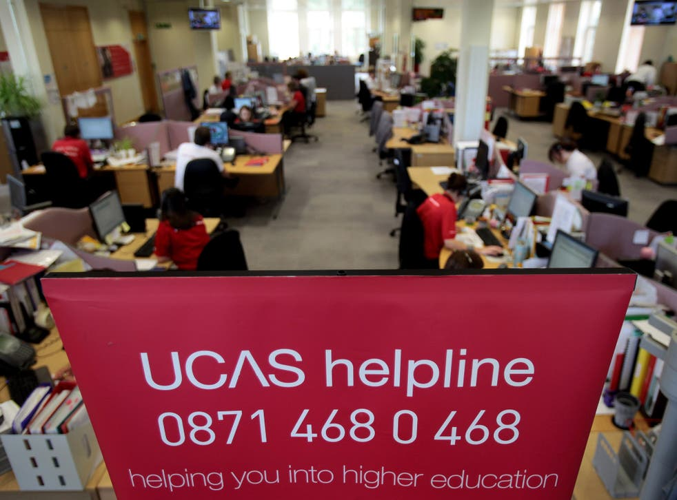 The UCAS clearing house call centre in Cheltenham, England