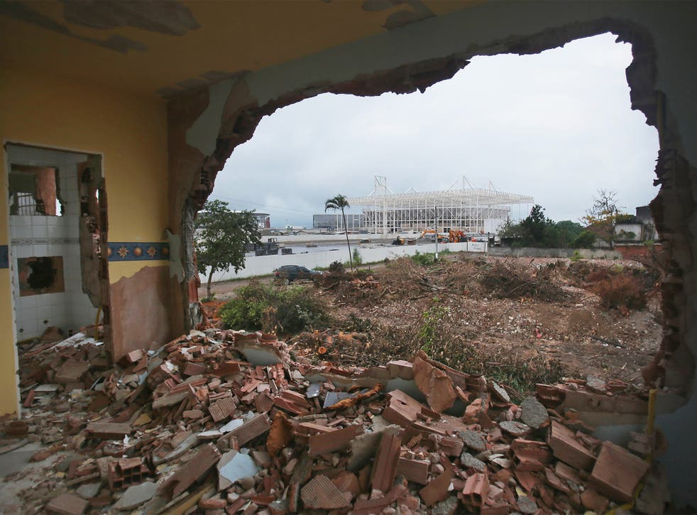 View from a Rio favela home being demolished to make way for the Olympic Park