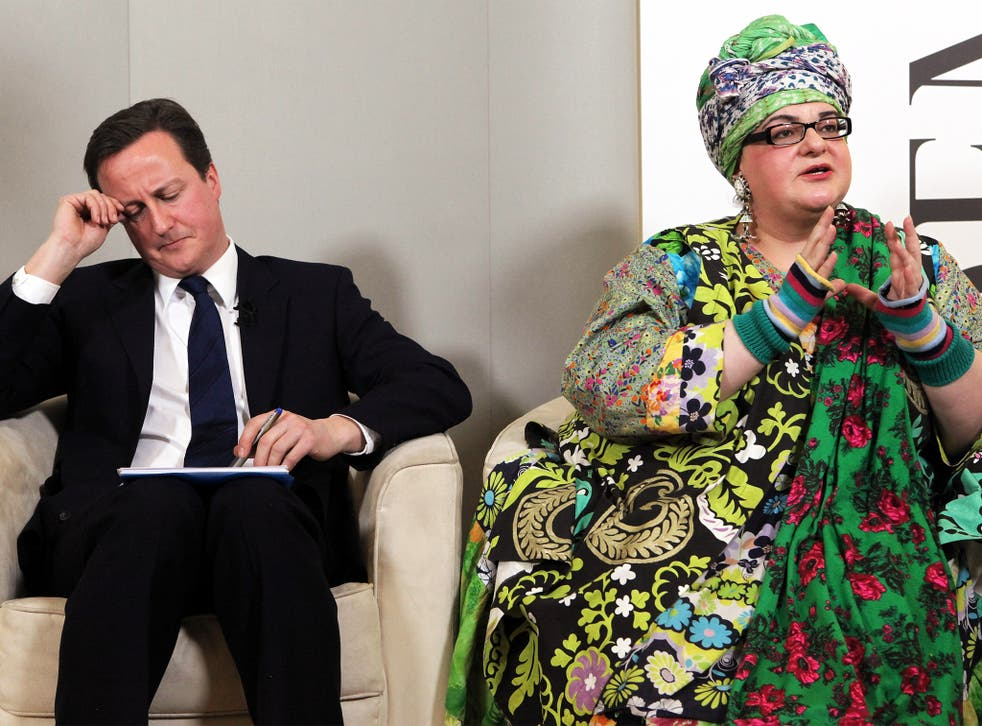 The Prime Minister with Camila Batmanghelidjh, the founder of the charity 'Kids Company', in 2010