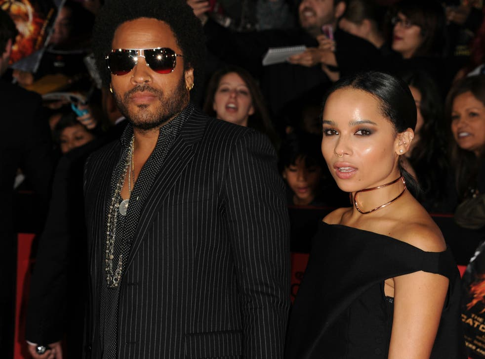 Lenny Kravitz and his daughter Zoe