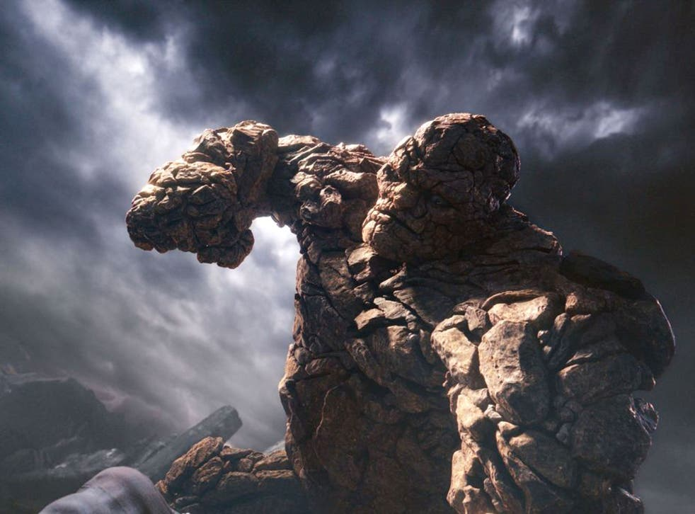 Rock and role: Jamie Bell's character Benjamin Grimm is transformed into 'Thing' in the film adaptation of Marvel Comics' 'Fantastic Four'