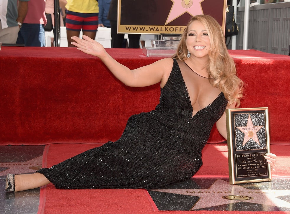 Singer Mariah Carey is honored with Star on The Hollywood Walk of Fame in Hollywood, California