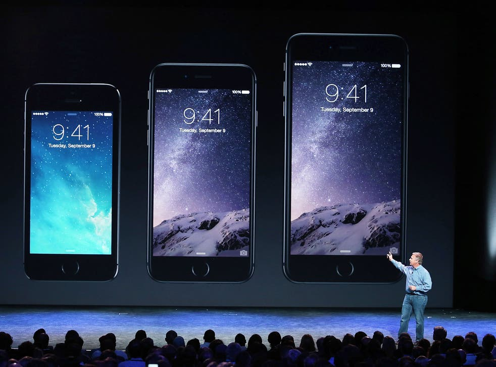 Apple Senior Vice President of Worldwide Marketing Phil Schiller announces the new iPhone 6 during an Apple special event at the Flint Center for the Performing Arts on September 9, 2014 in Cupertino, California