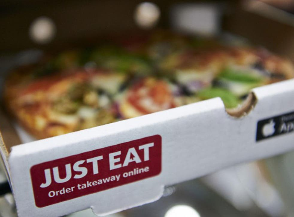 A Just Eat pizza box
