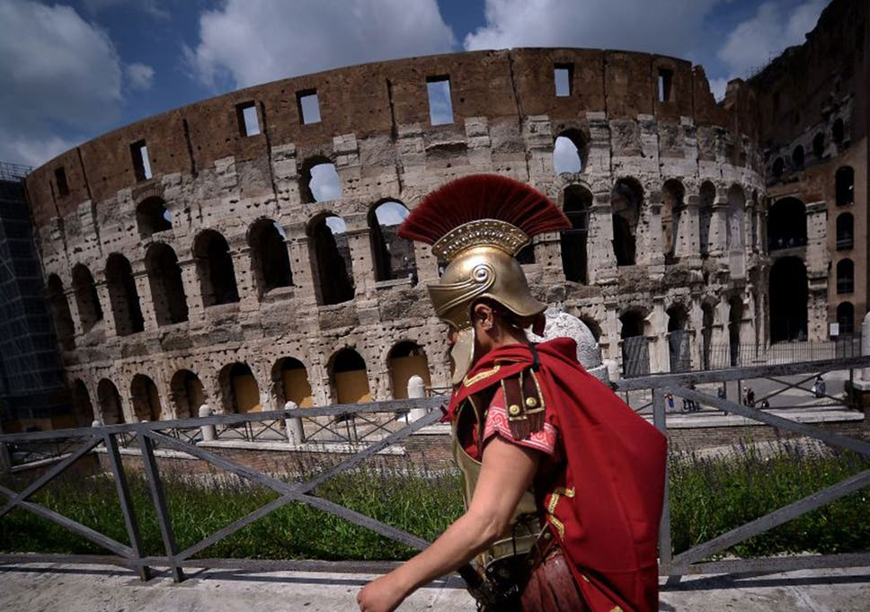 the roman colosseum building history series