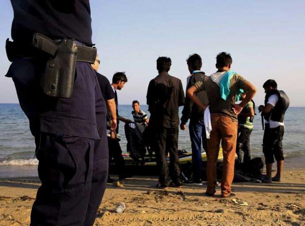 Migrants arrive on the Italian coast
