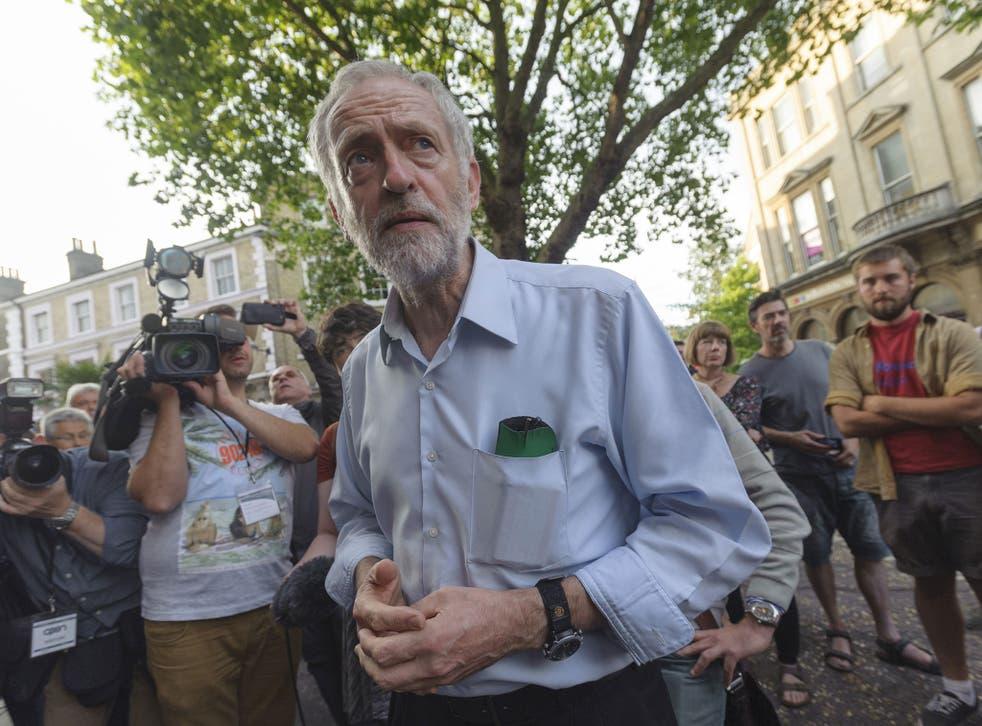 Jeremy Corbyn, Labour leadership candidate, campaigns in Norwich last week (Rex)