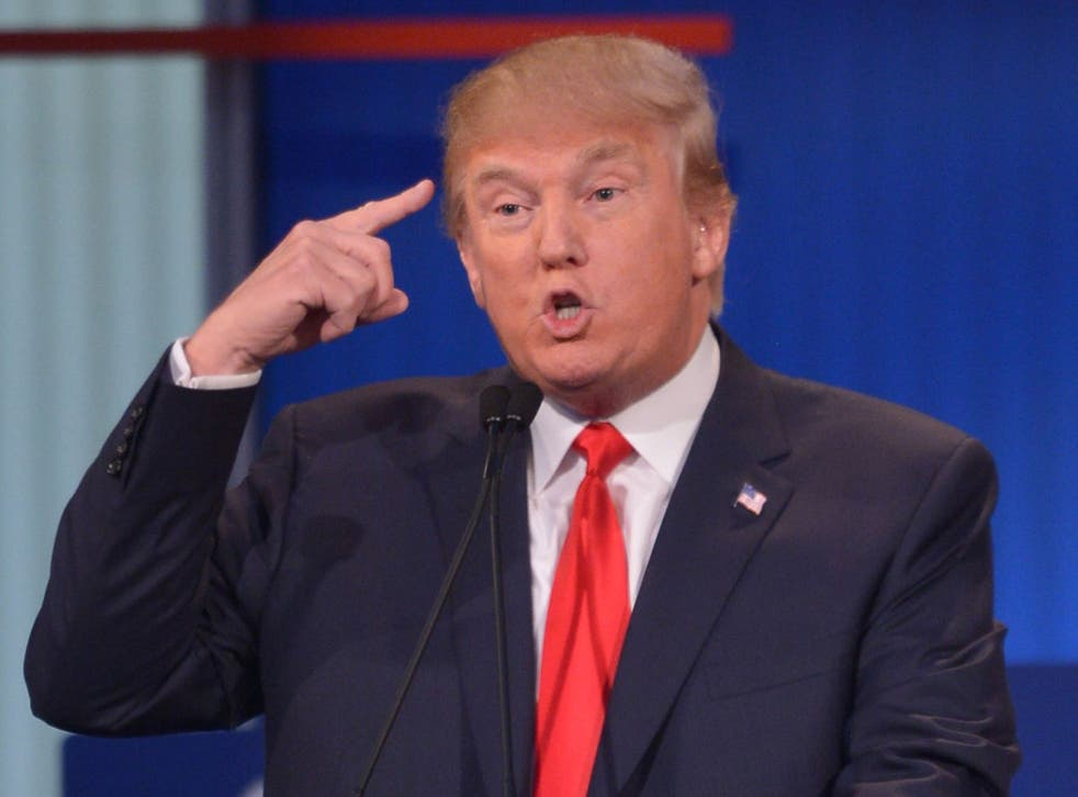 Donald Trump, frontrunner for the nomination as Republican presidential candidate (Getty)