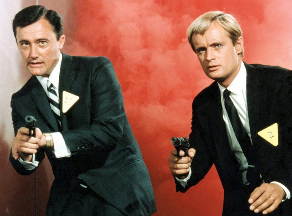 Robert Vaughn (left) as Napoleon Solo in The Man from UNCLE, popular TV series in the 1960s