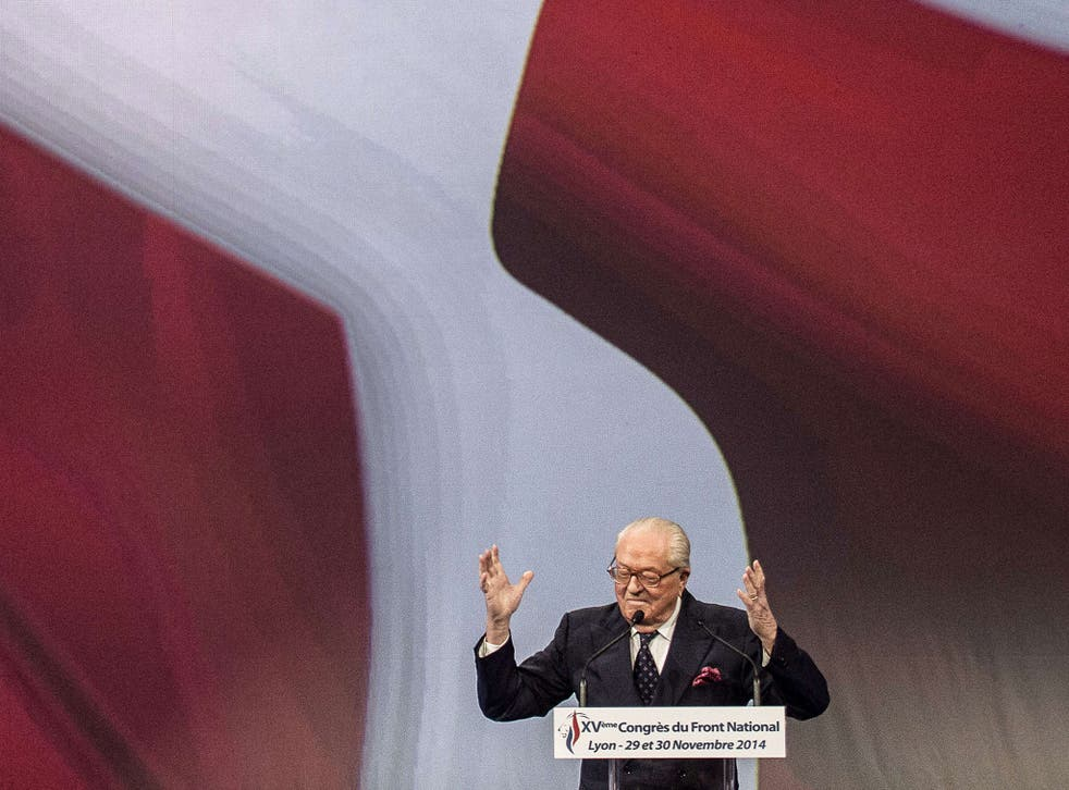 Jean-Marie Le Pen has accused his daughter of 'betrayal'