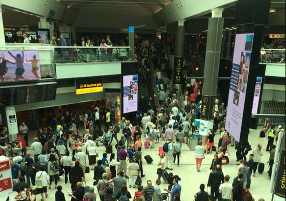 Gatwick Airport evacuated after fire alarm set off in Nando's | The