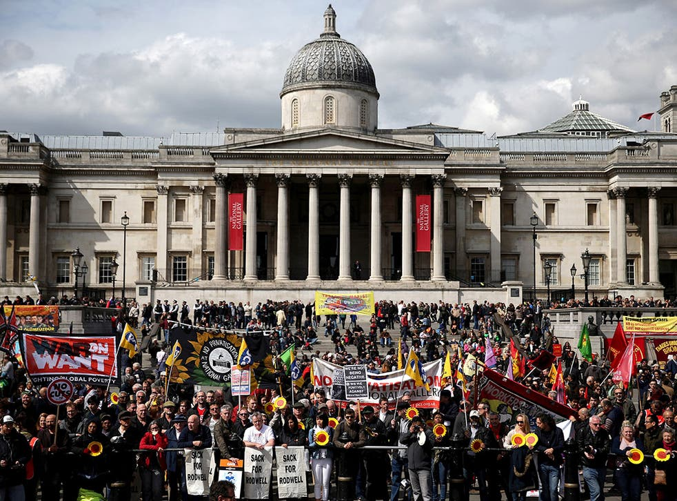 There have been more than 50 days of strike by National Gallery workers since February.