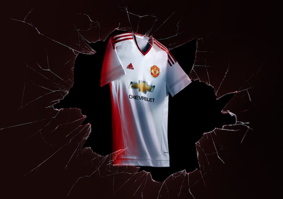 991740f750f Manchester United unveil 2015/16 away kit: White Adidas strip unveiled in  Brixton