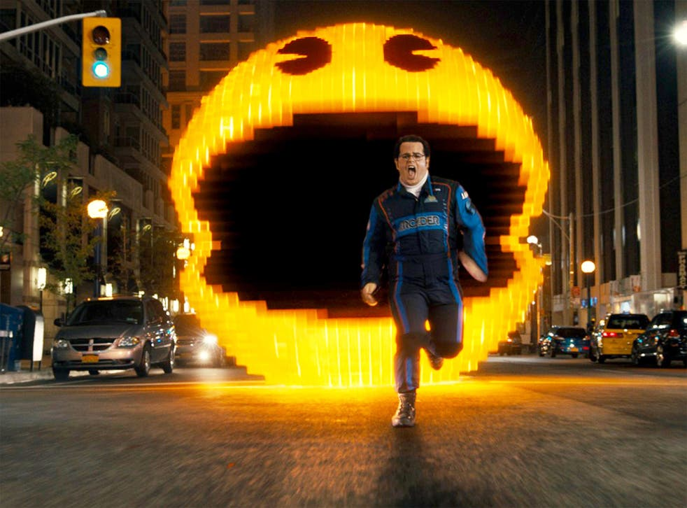 'Pixels' is about an alien invasion prompted by a misinterpretation of 'Pac-Man' and other games as a declaration of war