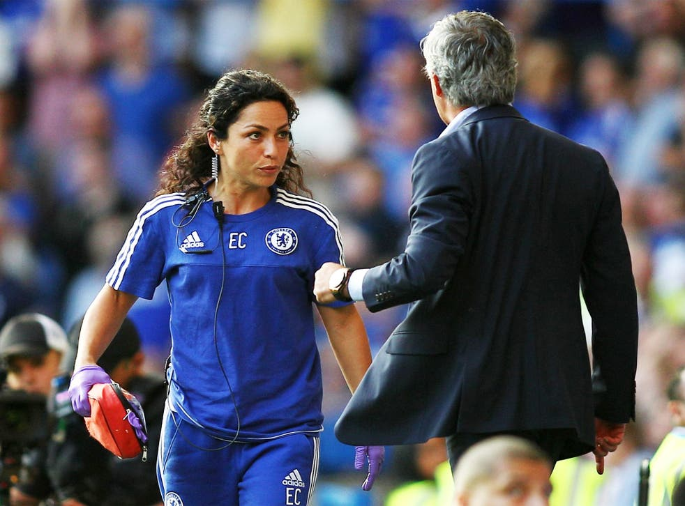 Jose Mourinho confronts Eva Carneiro after the incident at Stamford Bridge