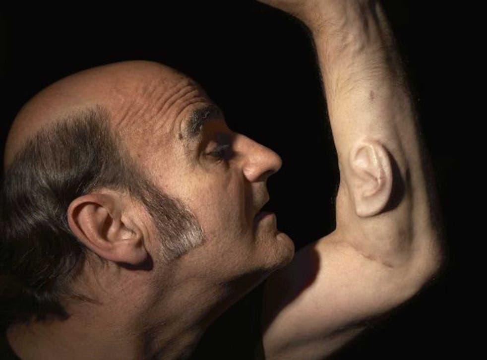 Stelarc plans to connect an ear he has been growing on his arm for years to the internet