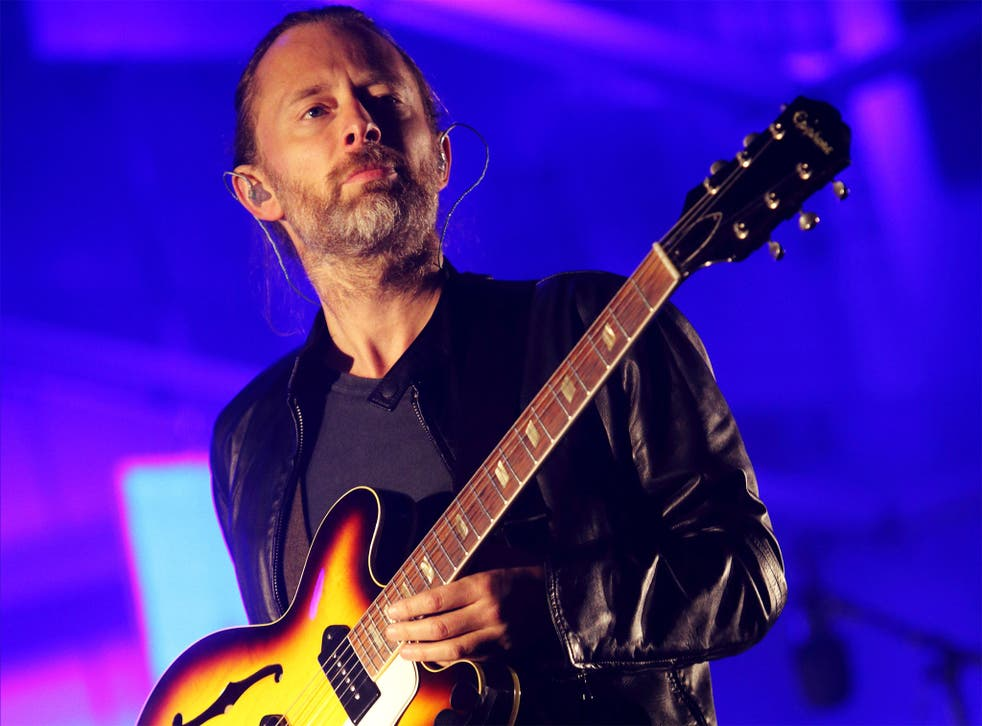 Radiohead frontman says music should be about 'crossing borders rather than building them'
