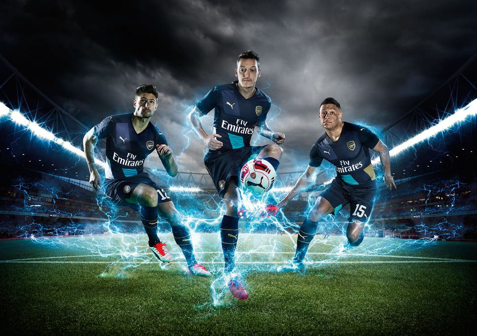9768a1555 Arsenal 2015 16 third shirt unveiled  Blue cup kit launched and will ...