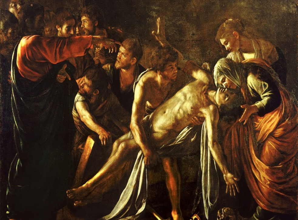 The Raising of Lazarus by Carvaggio (1609)
