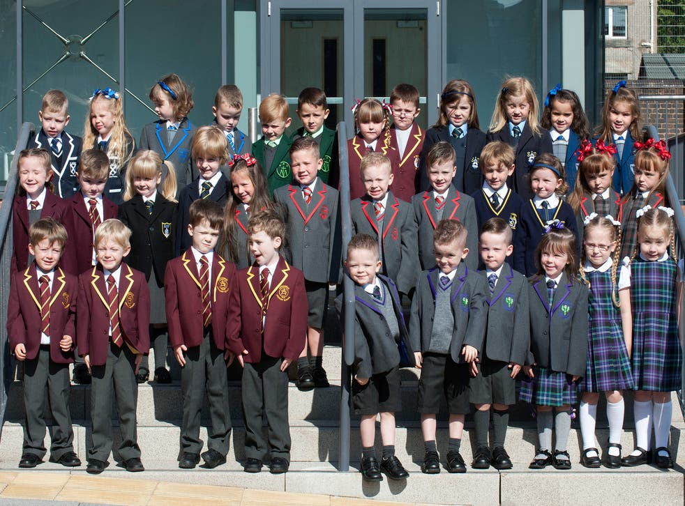 17 of the 19 sets of twins have met in their school uniforms at Ardgowan Primary School in Greenock