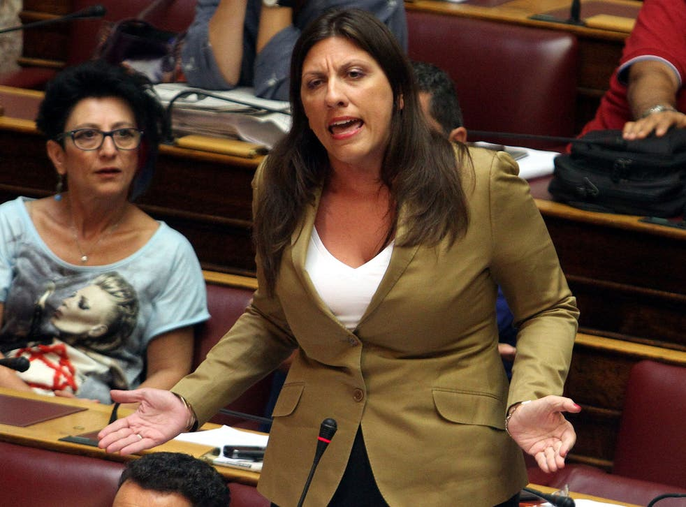 The president of the Parliament, Zoi Konstantopoulou addresses the parliament committees, in Athens, Greece