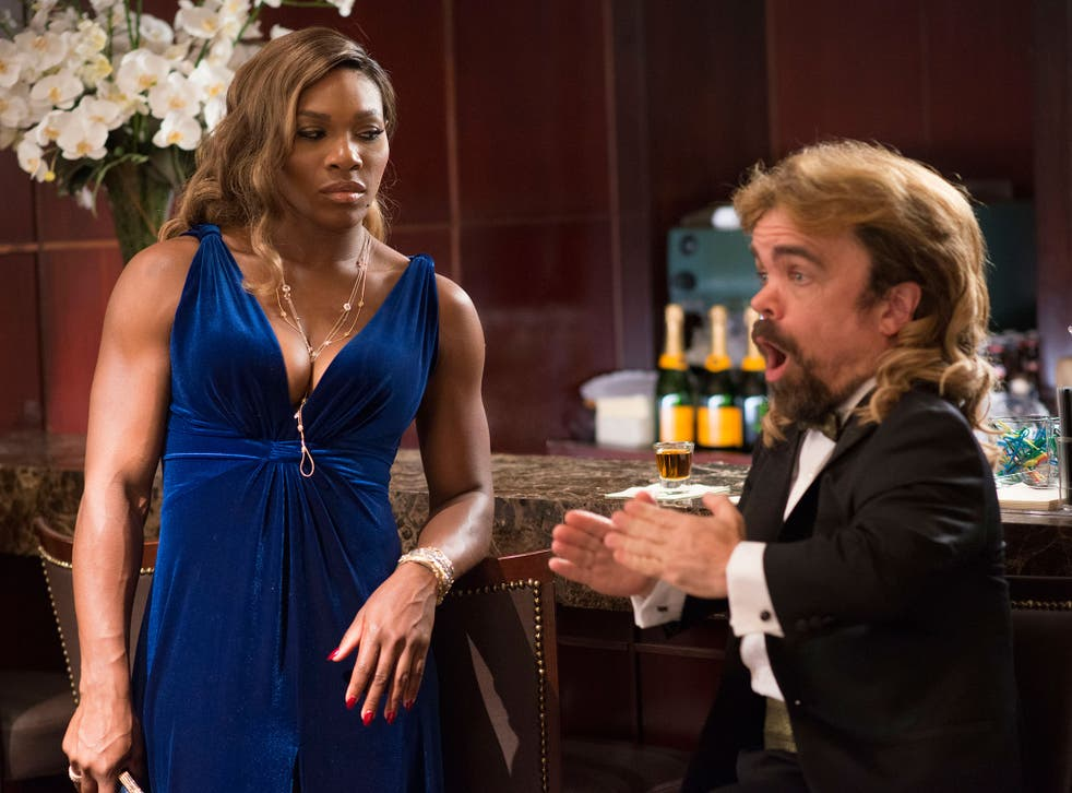 Not quite love at first byte: Serena Williams and Peter Dinklage in the strangely misconceived 'Pixels'