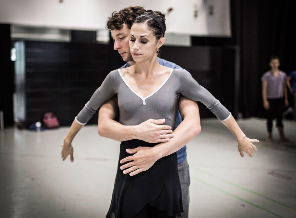 Martha Leebolt and Tobias Batley rehearse 1984