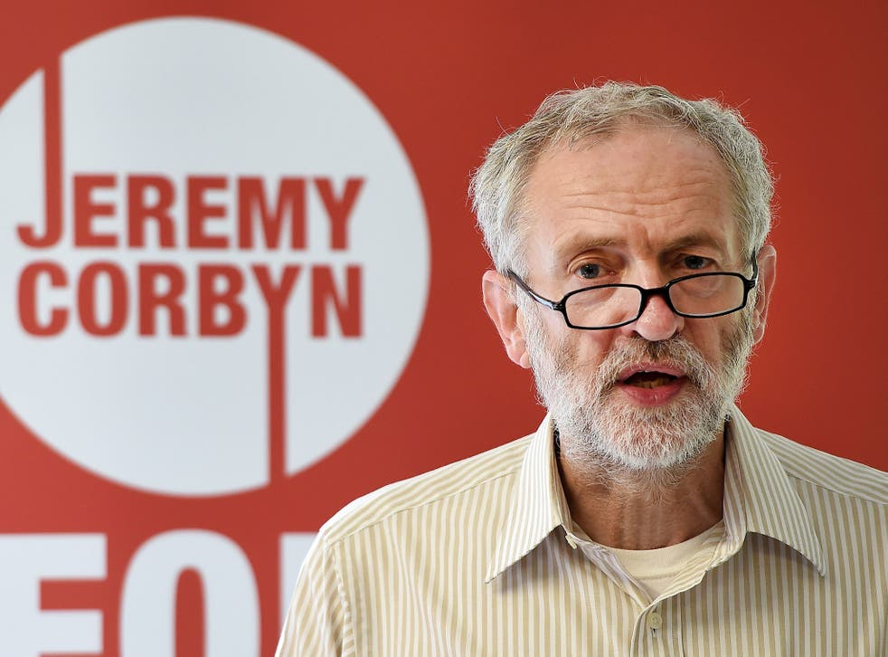 Jeremy Corbyn, the front-runner in the Labour leadership contest