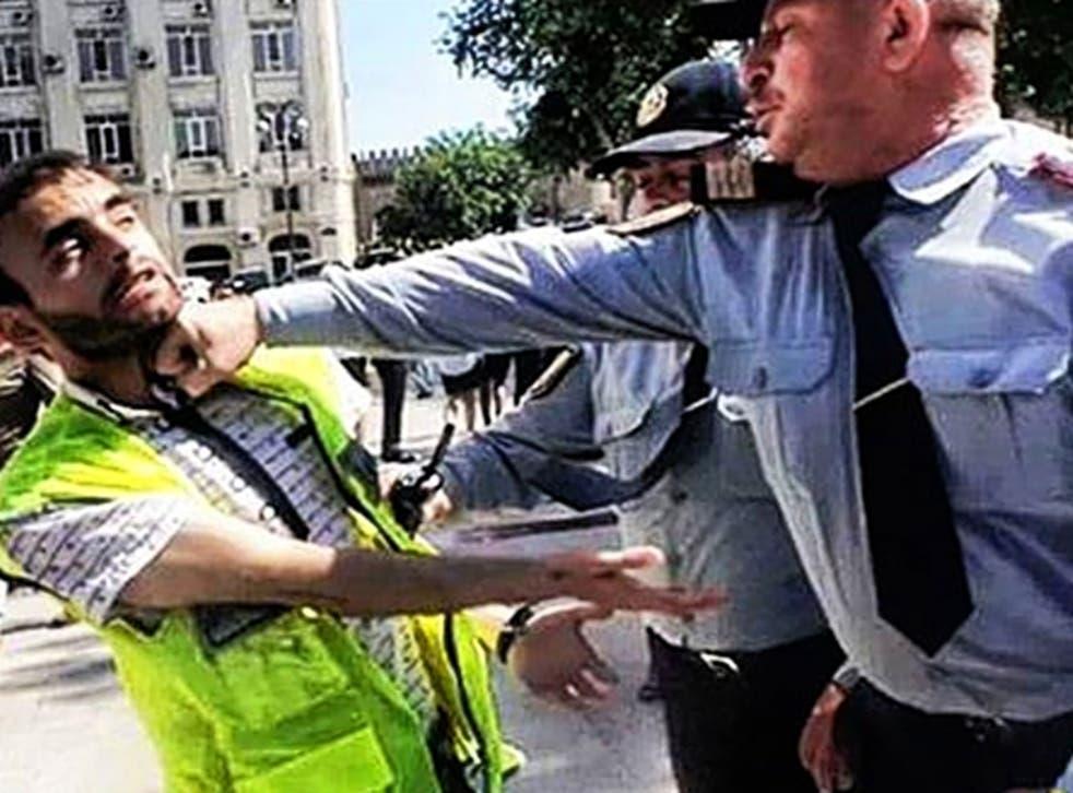 Rasim Aliyev (left) was no stranger to heavy-handed treatment from the Azerbaijan authorities