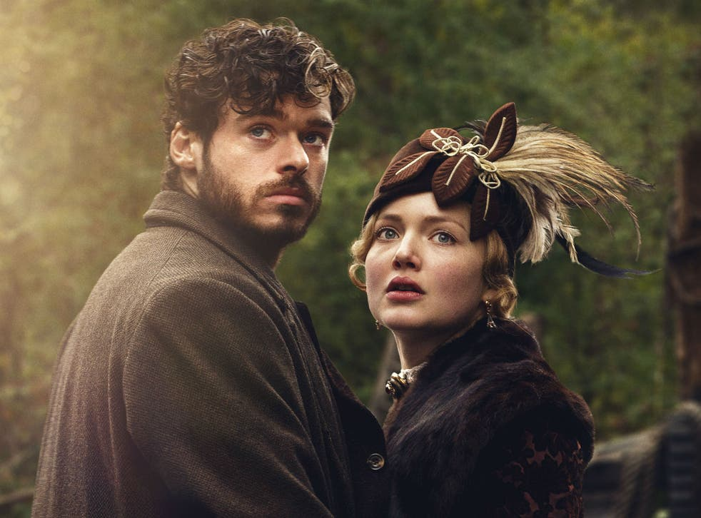 Holliday Grainger and Richard Madden as Lady Chatterley and Oliver Mellors in Lady Chatterley's Lover