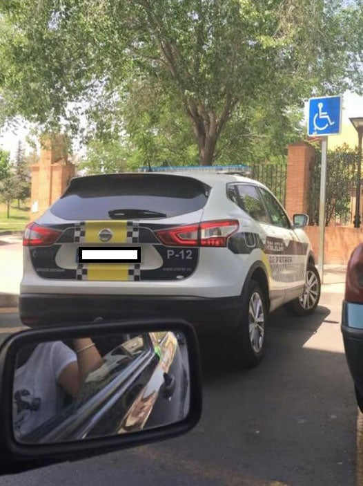 Spanish woman fined €800 for taking picture of police car in disabled parking space