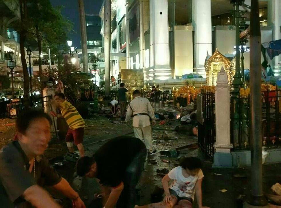 The explosion was near the Erawan Shrine in Bangkok