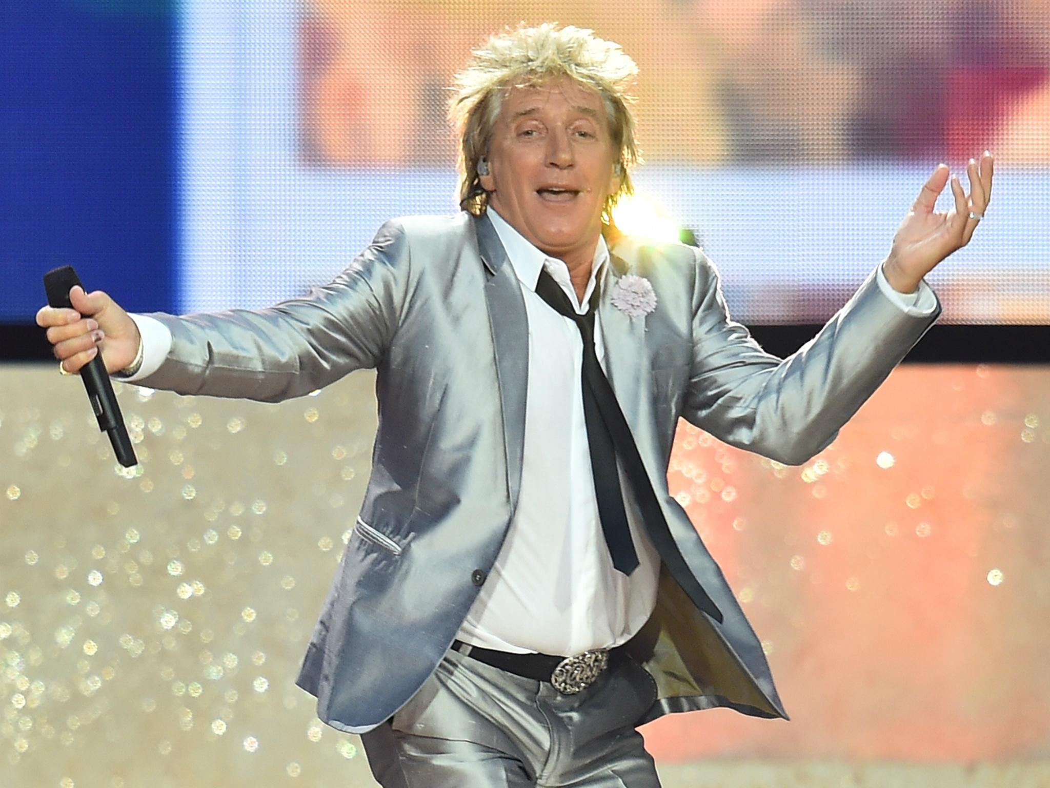 British Legendary Rock Singer Rod Stewart performing at VMA 2017