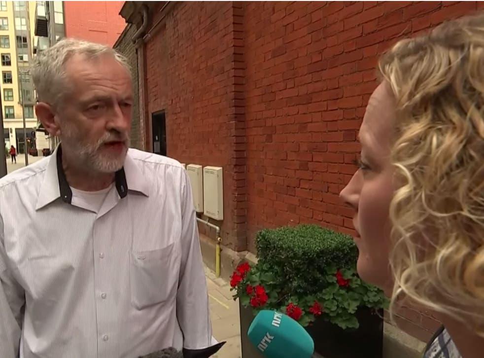 Newman grills Corbyn