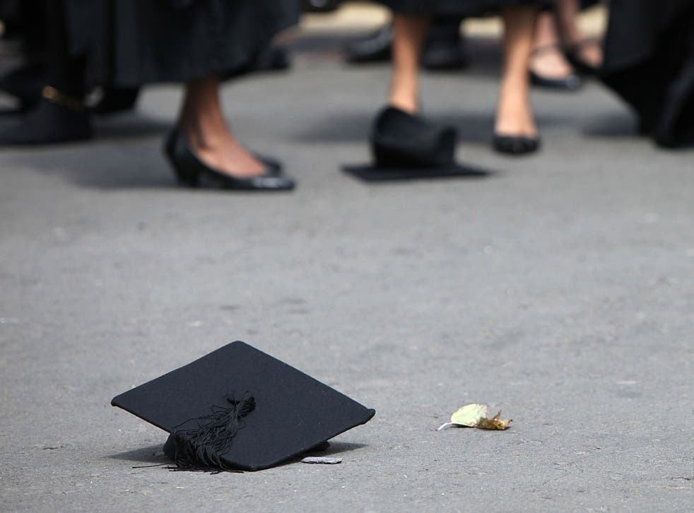 58.8 per cent of UK graduates have ended up in non-graduate jobs