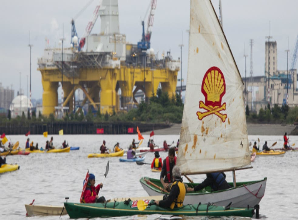 'Kayaktivists' attempted to stop Shell's Polar Pioneer oil drilling rig leaving Seattle in June