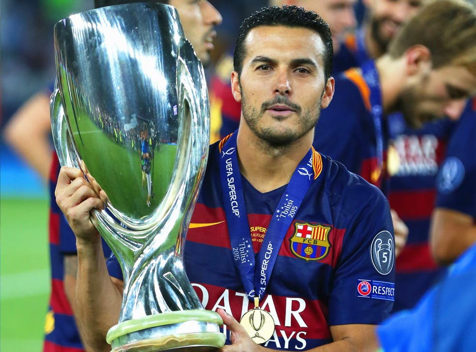 Pedro scored the winner for Barcelona in their Uefa Super Cup triumph earlier this month